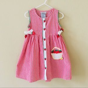 🍓 Host Pick 🍓 Girl's Seersucker Strawberry Dress